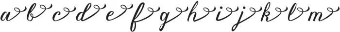Vanessa Handscript Alt04 ttf (400) Font LOWERCASE