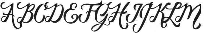 Vanessa Handscript Alt06 ttf (400) Font UPPERCASE