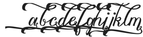 Vanessa Handscript Alt06 ttf (400) Font LOWERCASE