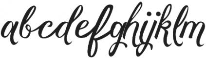 Vanessa Handscript Alt08 ttf (400) Font LOWERCASE