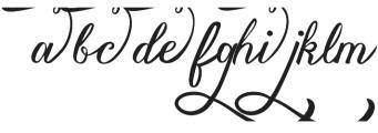 Vanessa Handscript Alt09 ttf (400) Font LOWERCASE