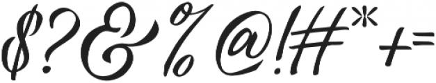 Vanessa Handscript Regular otf (400) Font OTHER CHARS