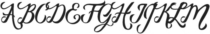 Vanessa Handscript Regular otf (400) Font UPPERCASE