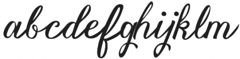 Vanessa Handscript Regular otf (400) Font LOWERCASE