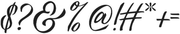 Vanessa Handscript Regular ttf (400) Font OTHER CHARS