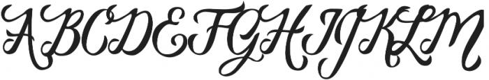 Vanessa Handscript Regular ttf (400) Font UPPERCASE