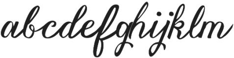 Vanessa Handscript Regular ttf (400) Font LOWERCASE