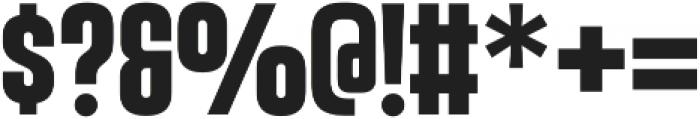 Vanguard CF Bold otf (700) Font OTHER CHARS