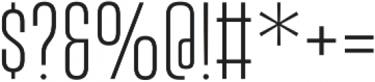 Vanguard CF Light otf (300) Font OTHER CHARS