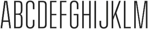 Vanguard CF Light otf (300) Font UPPERCASE