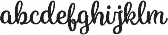 Vanilla Daisy Pro otf (400) Font LOWERCASE