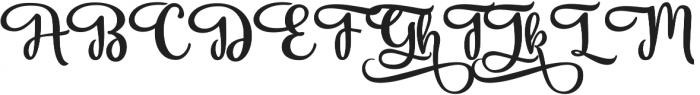 Vanilla Daisy SS 06 ttf (400) Font UPPERCASE