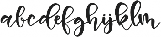 Vanilla Vibes Script otf (400) Font LOWERCASE