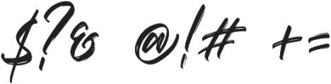 Vaughan Handstylish Font otf (400) Font OTHER CHARS
