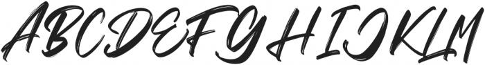 Vaughan Handstylish Font otf (400) Font UPPERCASE