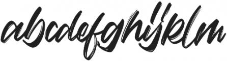 Vaughan Handstylish Font otf (400) Font LOWERCASE