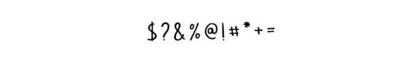 Vader Typeface Font OTHER CHARS