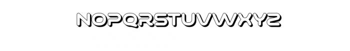 Varino-Extrude.otf Font UPPERCASE