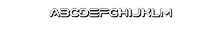 Varino-Extrude.ttf Font UPPERCASE