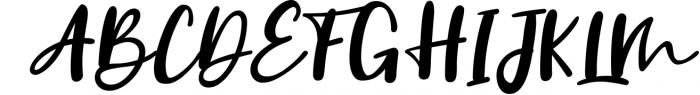 Vanilla Twilight // Handwritten Font Duo 1 Font UPPERCASE
