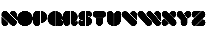 VAL Stencil Font LOWERCASE
