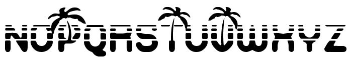 Vacaciones Font UPPERCASE