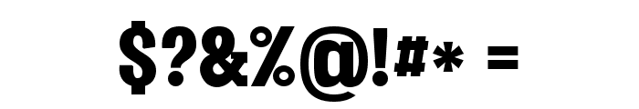 Vacer Serif Personal Black Font OTHER CHARS