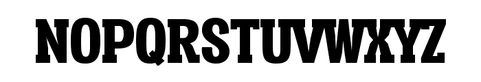 Vacer Serif Personal Black Font UPPERCASE