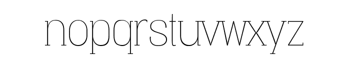 Vacer Serif Personal Thin Font LOWERCASE