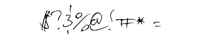 Vadim's Writing Font OTHER CHARS