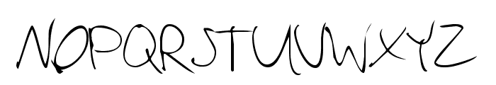 Vadim's Writing Font UPPERCASE