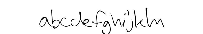 Vadim's Writing Font LOWERCASE