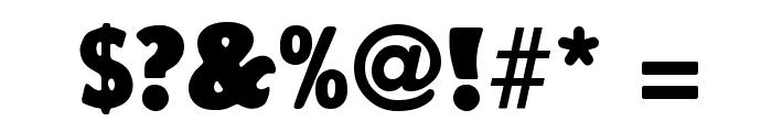 Vagabond Regular Font OTHER CHARS
