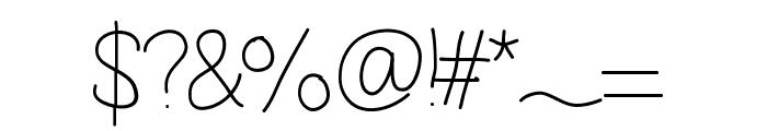 Vague Font OTHER CHARS