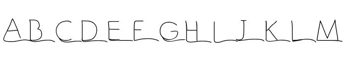 Vague Font UPPERCASE