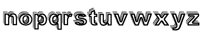 Vale Shadow Font LOWERCASE