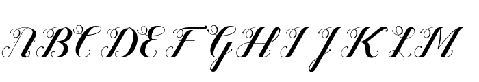 Valentijn FreeVersion Font UPPERCASE