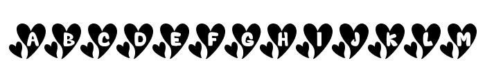 Valentine Caps Font UPPERCASE