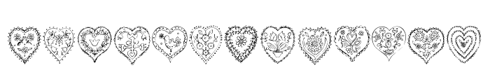 Valentine Things Font UPPERCASE