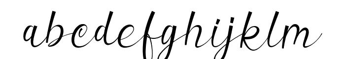 Valerissa Personal Use Font LOWERCASE
