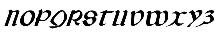 Valerius Expanded Italic Font UPPERCASE
