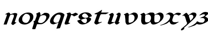 Valerius Expanded Italic Font LOWERCASE