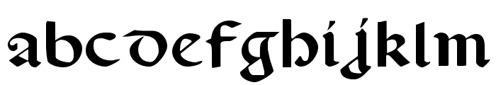 Valerius Expanded Font LOWERCASE