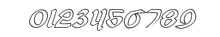 Valerius Outline Italic Font OTHER CHARS