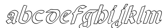 Valerius Outline Italic Font LOWERCASE