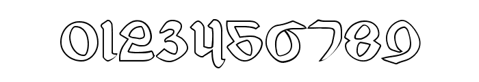 Valerius Outline Font OTHER CHARS