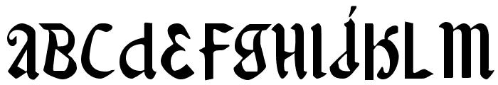 Valerius Font UPPERCASE