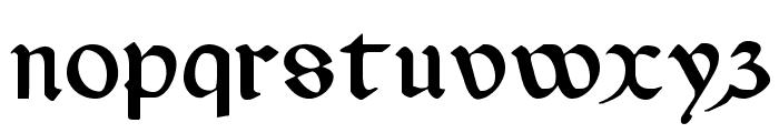 Valerius Font LOWERCASE