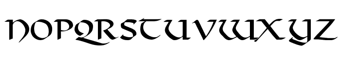 Valhalla Normal Font LOWERCASE