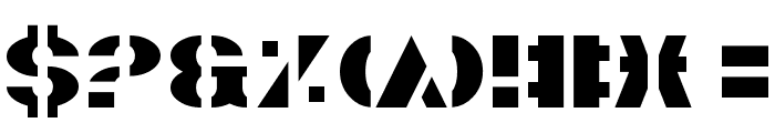 Valiant Font OTHER CHARS